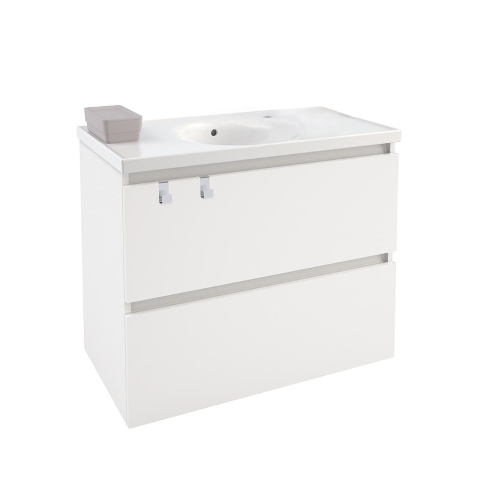cosmic b box waschbecken mit unterschrank mit 2 schubladen wei matt b05010811157 reuter. Black Bedroom Furniture Sets. Home Design Ideas