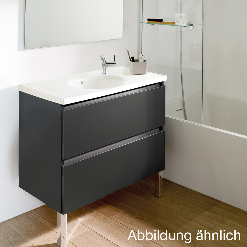 cosmic b box waschbecken mit unterschrank mit 2 schubladen wei matt b05010811157 reuter. Black Bedroom Furniture Sets. Home Design Ideas