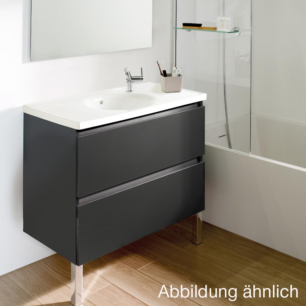 cosmic b box waschbecken mit unterschrank mit 2 schubladen wei matt wei gl nzend. Black Bedroom Furniture Sets. Home Design Ideas
