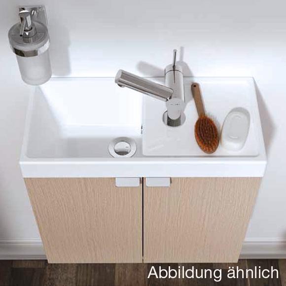 cosmic b box waschbecken mit unterschrank mit 2 t ren b 50 h 45 t 24 cm anthrazit. Black Bedroom Furniture Sets. Home Design Ideas