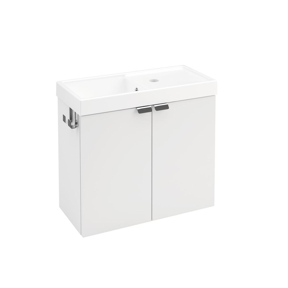 cosmic b box waschbecken mit unterschrank mit 2 t ren b. Black Bedroom Furniture Sets. Home Design Ideas