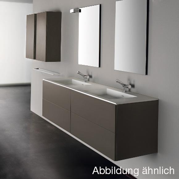 cosmic block doppel waschbecken matt mit unterschrank b 200 h 52 t 50 cm schwarz matt. Black Bedroom Furniture Sets. Home Design Ideas