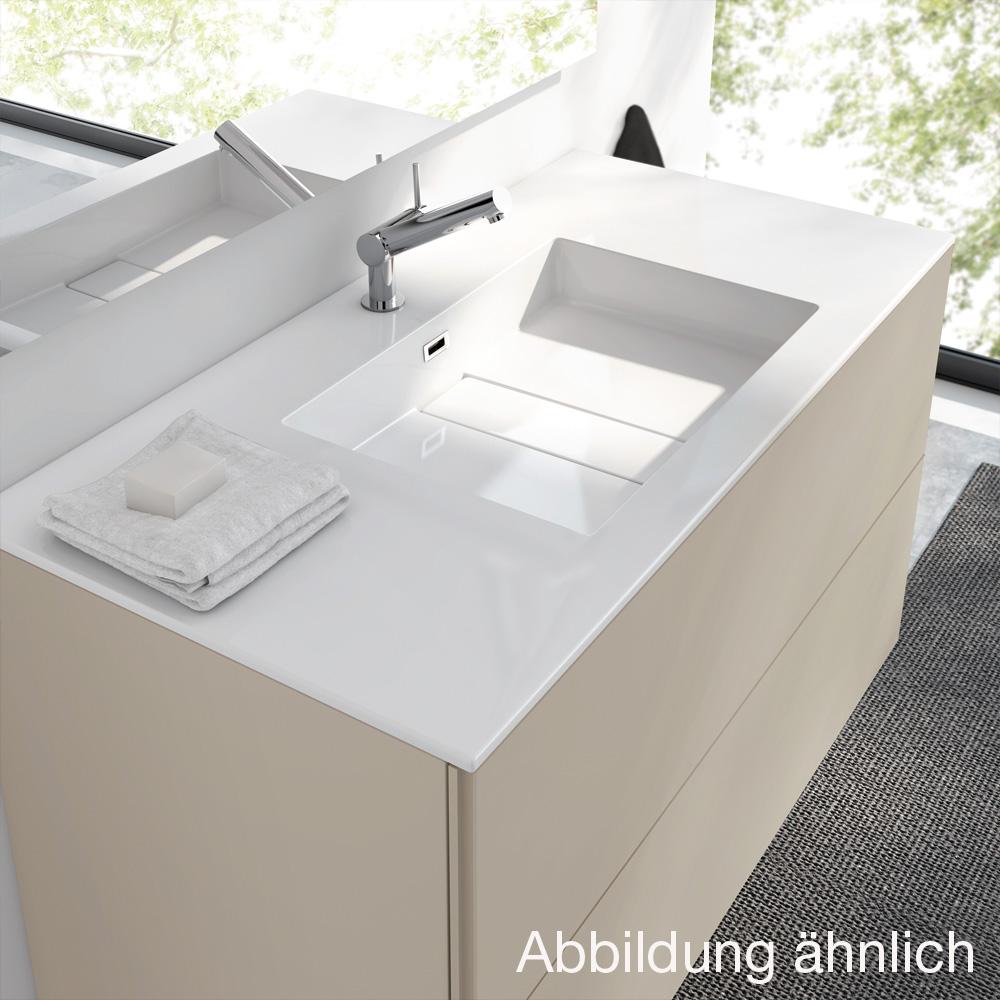 cosmic block evo waschbecken mit unterschrank mit 2 schubladen wei gl nzend wei gl nzend. Black Bedroom Furniture Sets. Home Design Ideas