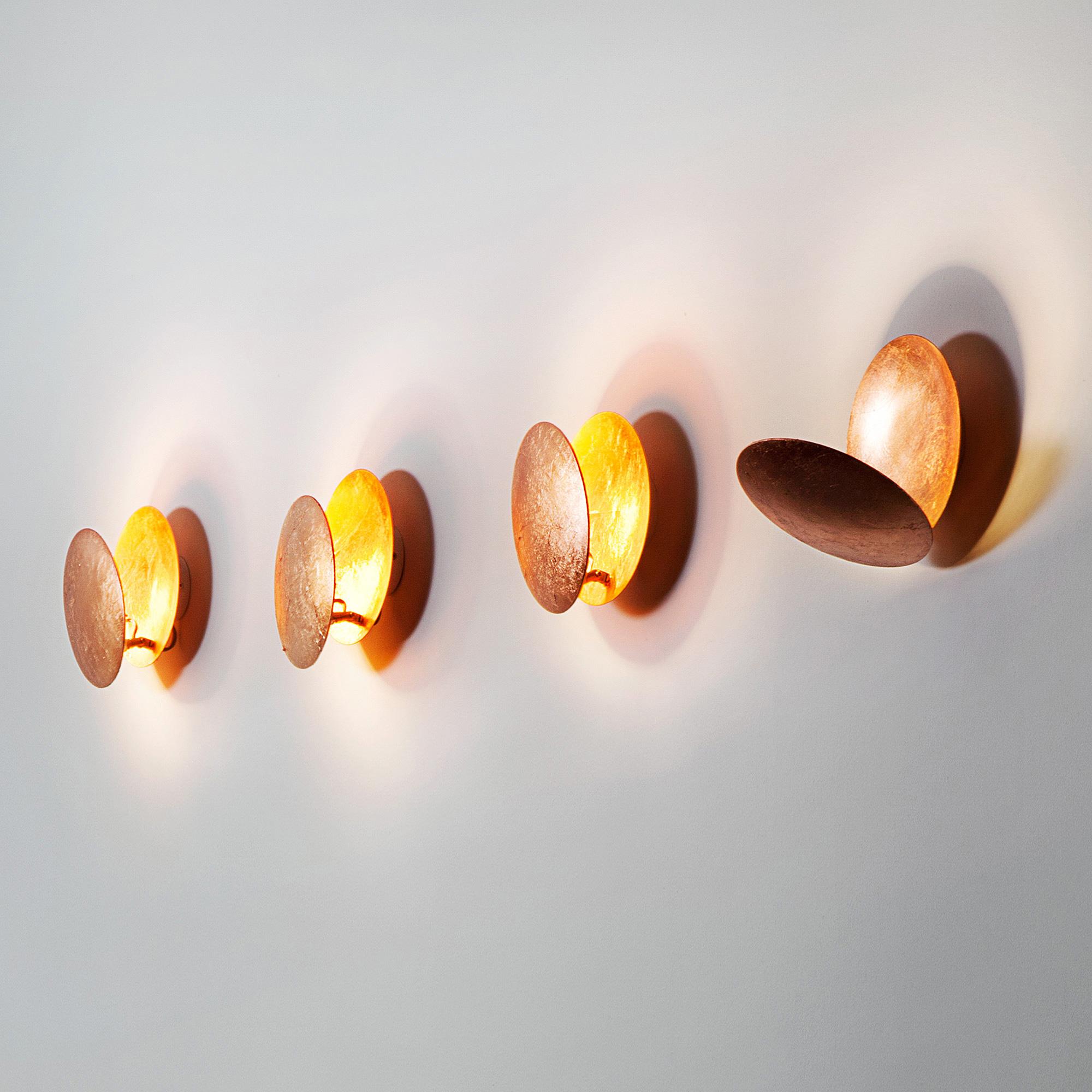 catellani smith lederam w led wandleuchten gold lw17402 reuter onlineshop. Black Bedroom Furniture Sets. Home Design Ideas