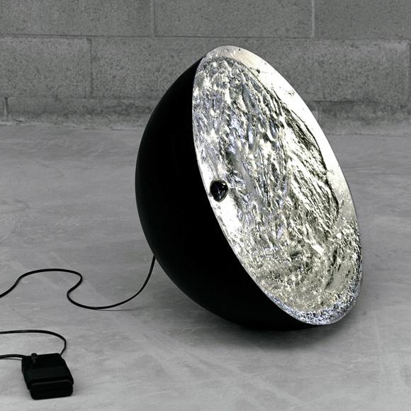 catellani smith stchu moon 01 bodenleuchte mit dimmer. Black Bedroom Furniture Sets. Home Design Ideas