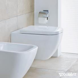 Duravit Happy D.2 Wand-WC, rimless weiß mit WonderGliss