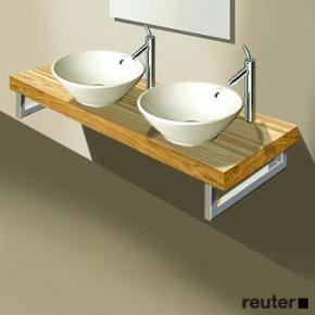 duravit fogo konsolenplatte f r 2 becken amerikanischer. Black Bedroom Furniture Sets. Home Design Ideas