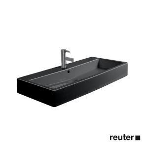 duravit vero waschtisch schwarz mit 1 hahnloch und berlauf 0454800800 reuter onlineshop. Black Bedroom Furniture Sets. Home Design Ideas