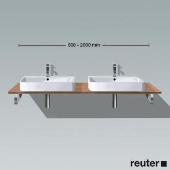 duravit happy d 2 konsole f r aufsatzbecken t 48 cm vorwand amerikanischer nussbaum. Black Bedroom Furniture Sets. Home Design Ideas