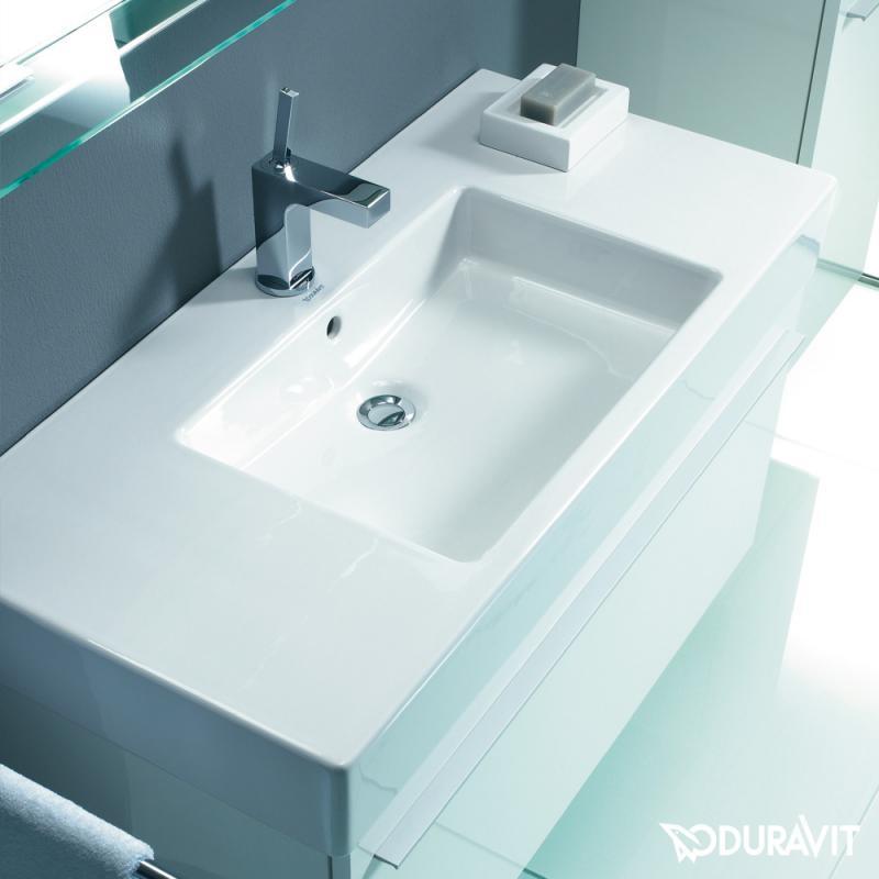 Duravit waschbecken eckig  Duravit Vero Möbelwaschtisch weiß, mit Wondergliss, mit 1 Hahnloch ...