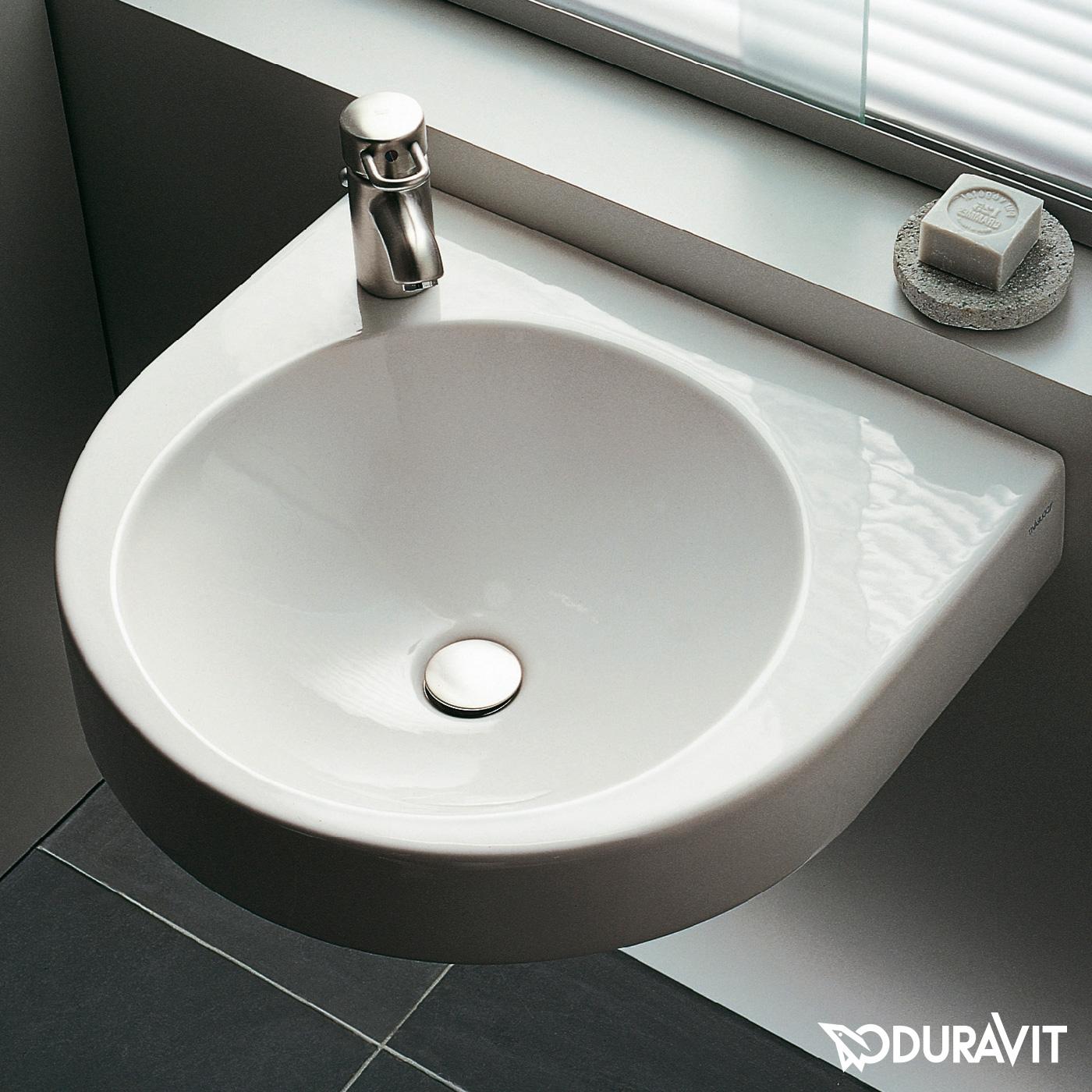 duravit architec waschtisch wei mit hahnloch links ohne. Black Bedroom Furniture Sets. Home Design Ideas