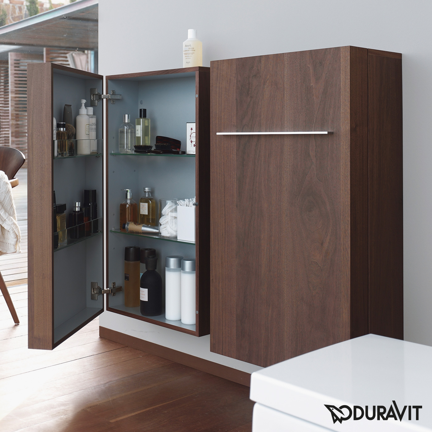 duravit fogo halbhochschrank amerikanischer nu baum echtholzfurnier anschlag links. Black Bedroom Furniture Sets. Home Design Ideas