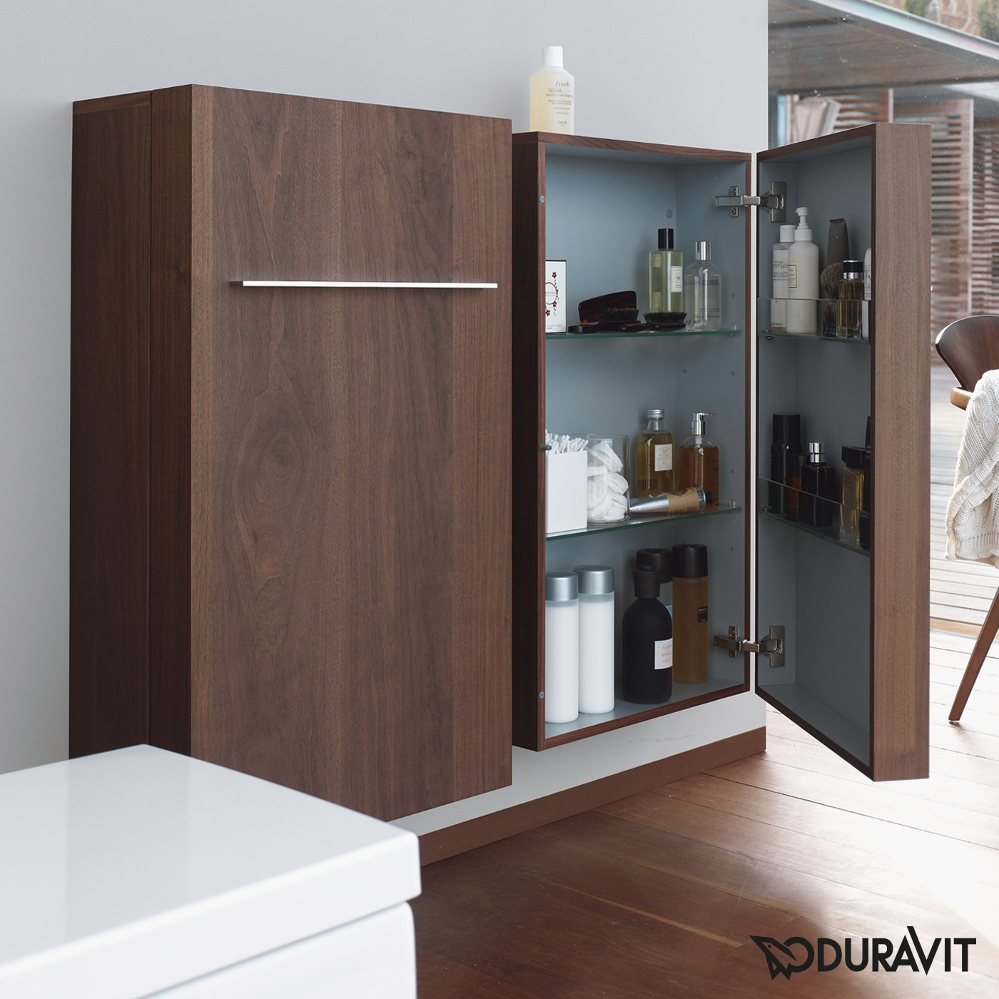 duravit fogo halbhochschrank amerikanischer nu baum. Black Bedroom Furniture Sets. Home Design Ideas