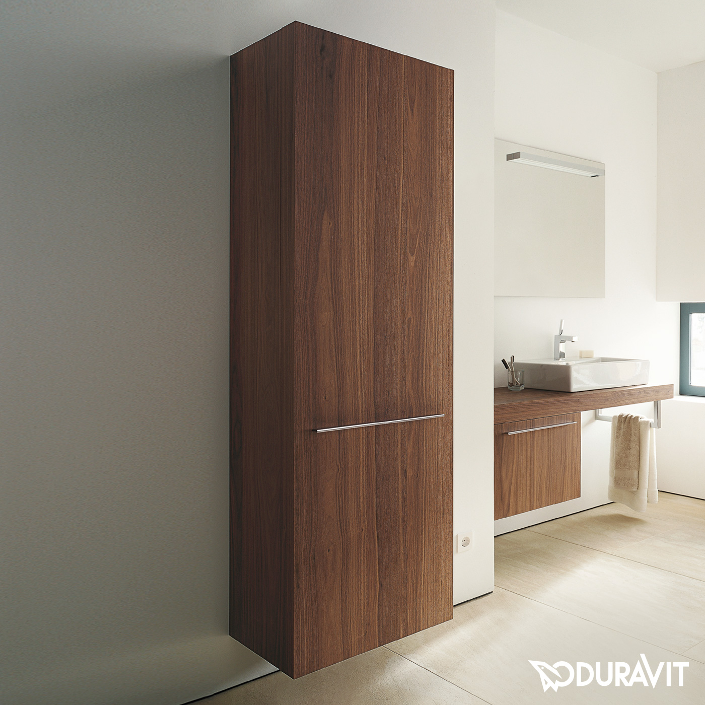 duravit fogo hochschrank amerikanischer nu baum. Black Bedroom Furniture Sets. Home Design Ideas