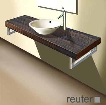 duravit fogo konsolenplatte f r 1 becken amerikanischer nu baum echtholzfurnier 160 cm. Black Bedroom Furniture Sets. Home Design Ideas
