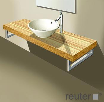 duravit fogo konsolenplatte f r 1 becken amerikanischer. Black Bedroom Furniture Sets. Home Design Ideas