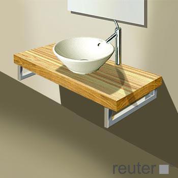 duravit fogo konsolenplatte f r 1 becken amerikanischer nu baum echtholzfurnier 120 cm. Black Bedroom Furniture Sets. Home Design Ideas