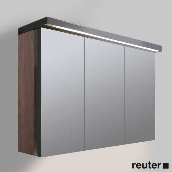 duravit fogo spiegelschrank mit 3 t ren amerikanischer nussbaum echtholzfurnier fo967801313. Black Bedroom Furniture Sets. Home Design Ideas