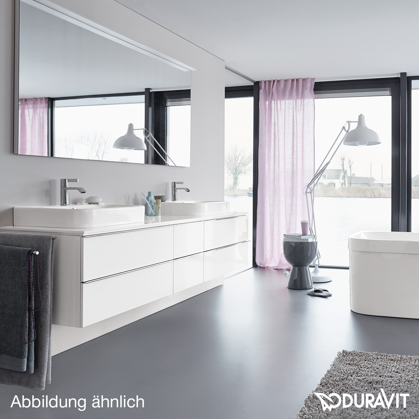 duravit happy d 2 konsole f r aufsatzbecken t 48 cm vorwand leinen h2015c07575 130 reuter. Black Bedroom Furniture Sets. Home Design Ideas