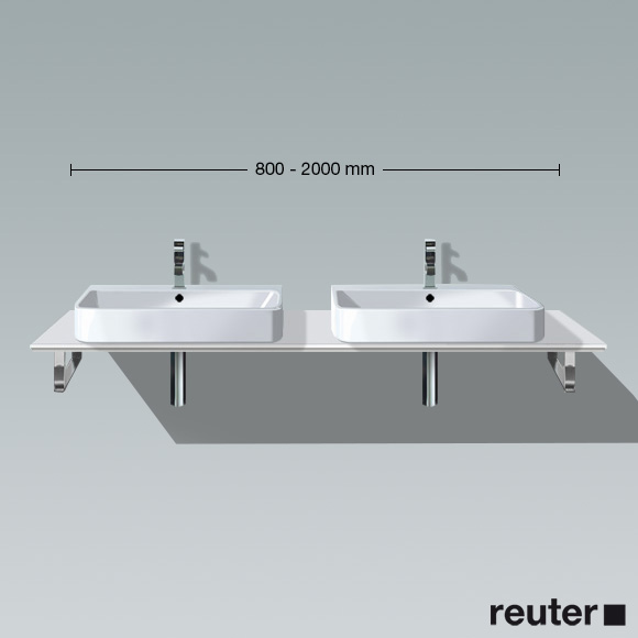 duravit happy d 2 konsole f r einbau aufsatzbecken t 55 cm nische wei h2048c02222 160. Black Bedroom Furniture Sets. Home Design Ideas