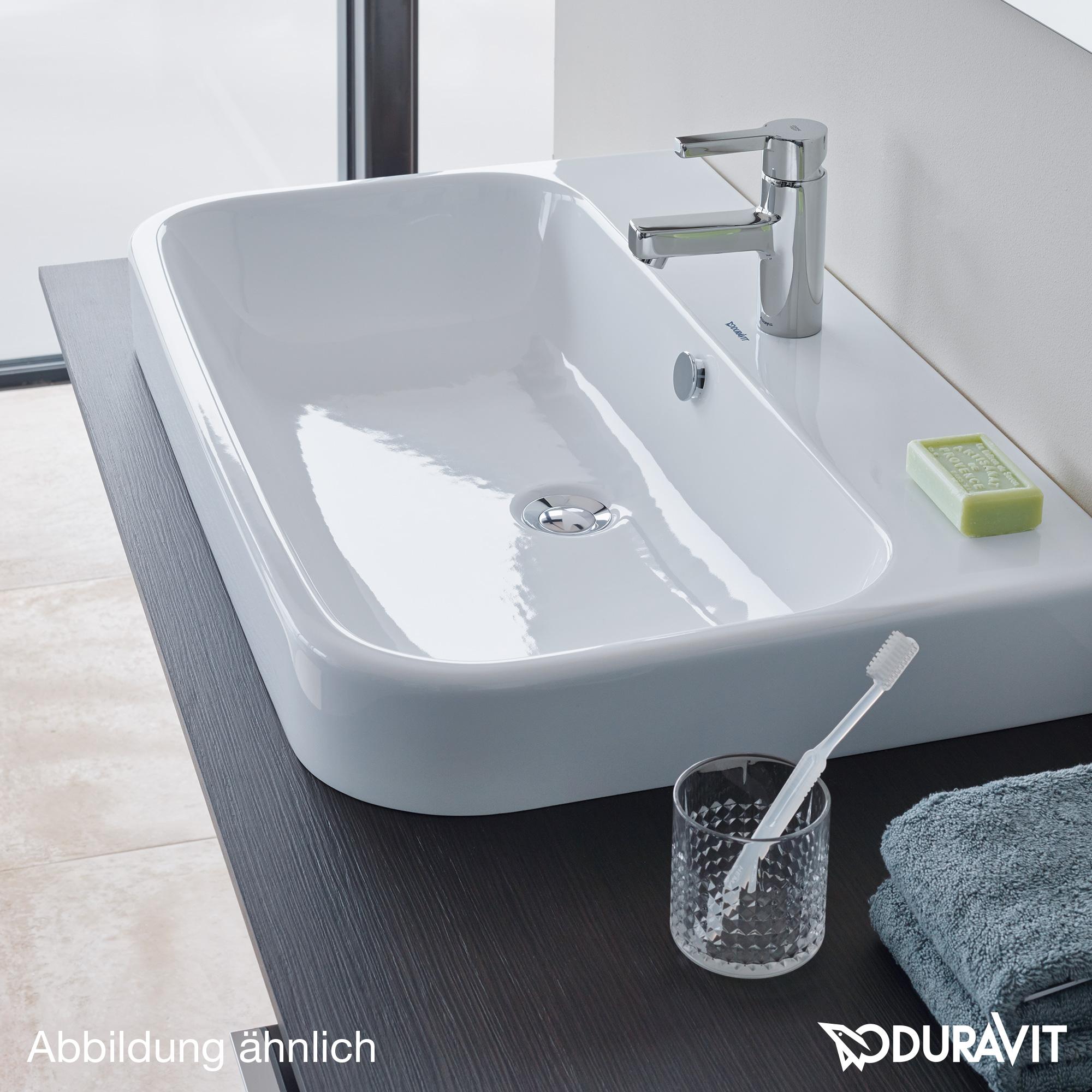 duravit happy d 2 konsole f r einbau aufsatzbecken t 55 cm nische leinen h2028c07575 80. Black Bedroom Furniture Sets. Home Design Ideas