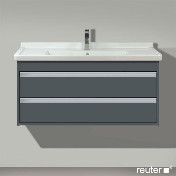 duravit ketho waschtischunterbau mit 2 schubk sten graphit. Black Bedroom Furniture Sets. Home Design Ideas