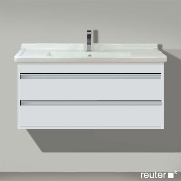 duravit ketho waschtischunterbau mit 2 schubk sten weiss matt kt664501818 reuter onlineshop. Black Bedroom Furniture Sets. Home Design Ideas