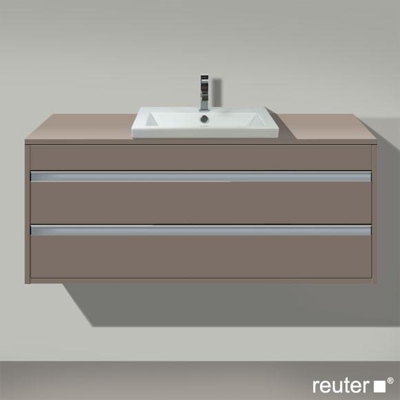 duravit ketho waschtischunterbau f r 1 einbauwaschtisch basalt matt kt675604343 reuter. Black Bedroom Furniture Sets. Home Design Ideas