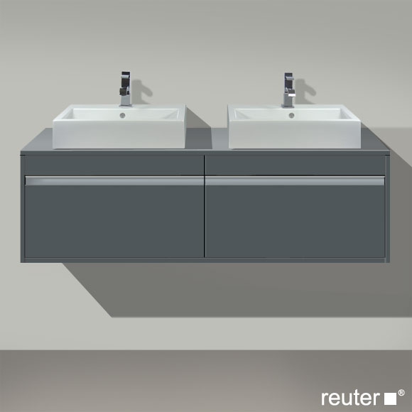 duravit ketho waschtischunterbau f r 2 aufsatzbecken graphit matt kt6697b4949 reuter onlineshop. Black Bedroom Furniture Sets. Home Design Ideas