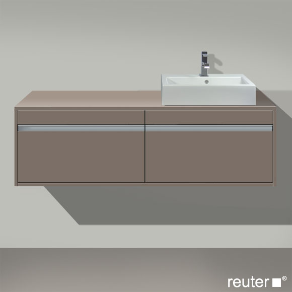 duravit ketho waschtischunterbau f r 1 aufsatzbecken basalt matt kt6697r4343 reuter onlineshop. Black Bedroom Furniture Sets. Home Design Ideas