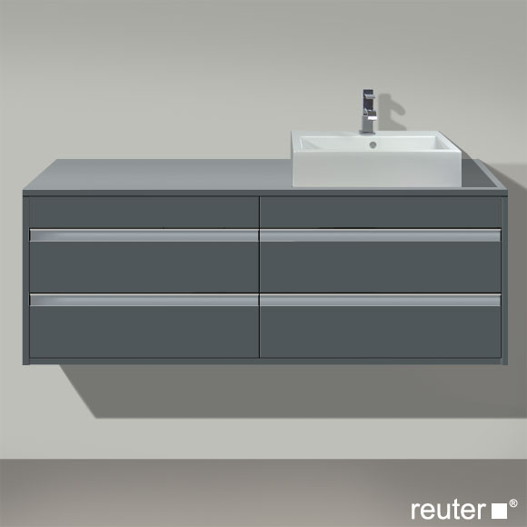 duravit ketho waschtischunterbau f r aufsatzbecken graphit matt kt6657r4949 reuter onlineshop. Black Bedroom Furniture Sets. Home Design Ideas