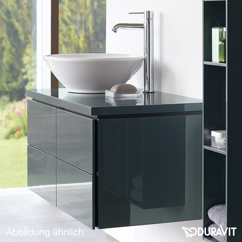 duravit l cube konsole f r 1 aufsatzbecken und einbauwaschtisch t 55 cm basalt matt. Black Bedroom Furniture Sets. Home Design Ideas