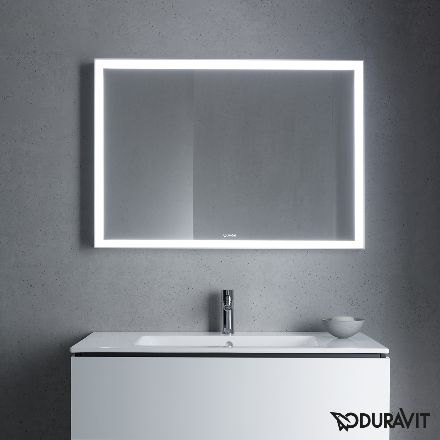 duravit l cube spiegel mit led beleuchtung lc738200000 reuter onlineshop. Black Bedroom Furniture Sets. Home Design Ideas
