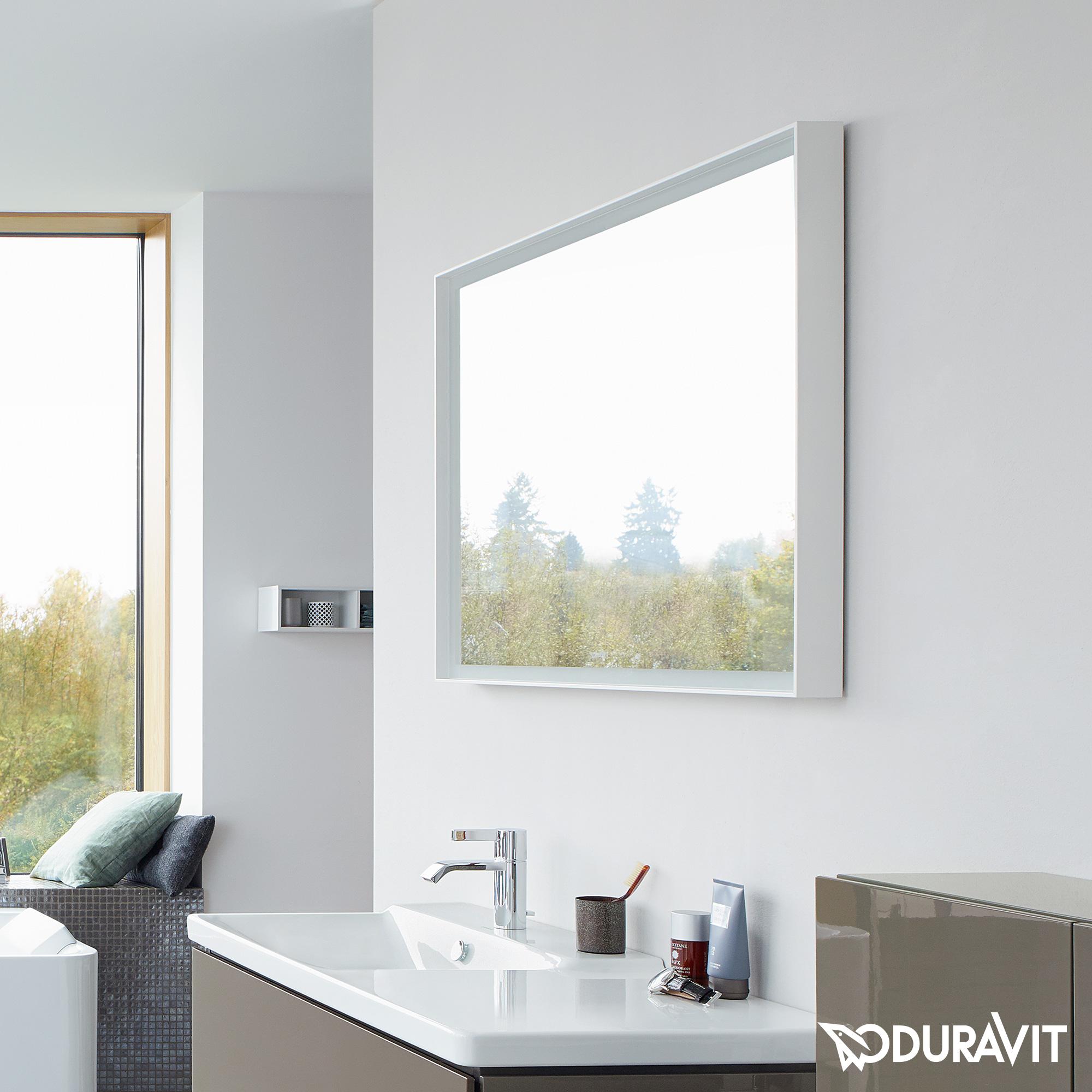 duravit l cube spiegel mit led beleuchtung lc738700000. Black Bedroom Furniture Sets. Home Design Ideas