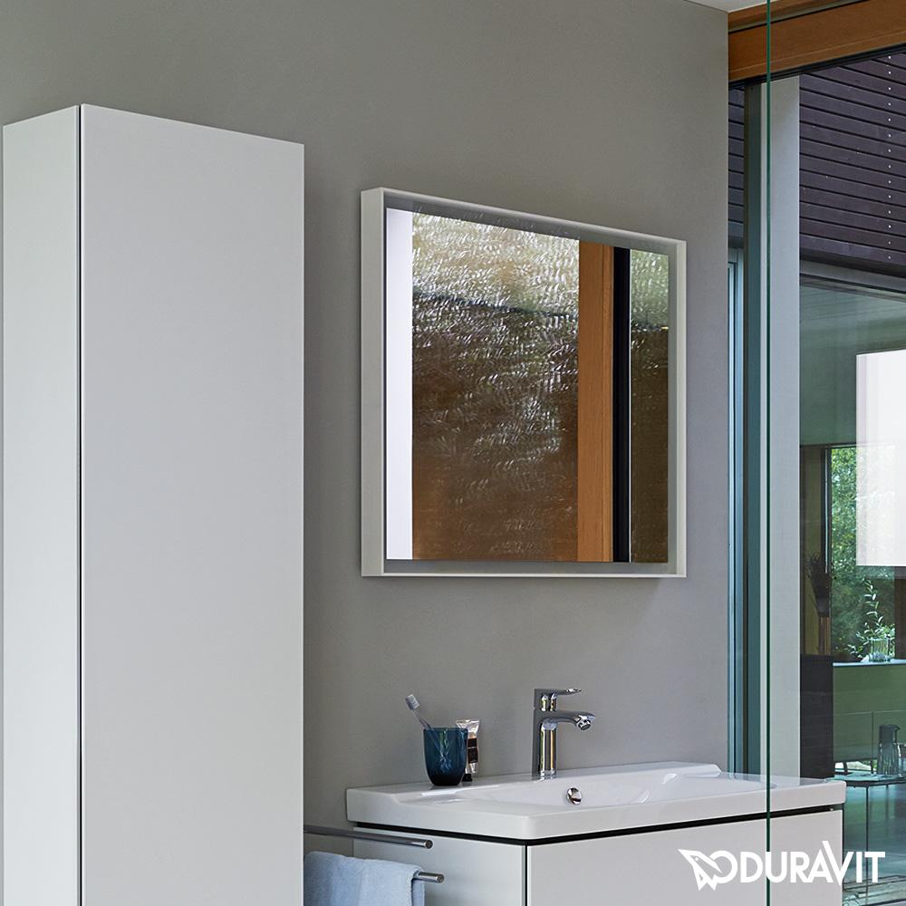 duravit l cube spiegel mit led beleuchtung lc738100000 reuter onlineshop. Black Bedroom Furniture Sets. Home Design Ideas