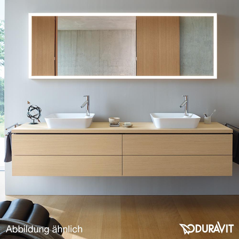 duravit l cube waschtischunterbau f r konsole eiche dunkel geb rstet mit einrichtungssystem in. Black Bedroom Furniture Sets. Home Design Ideas