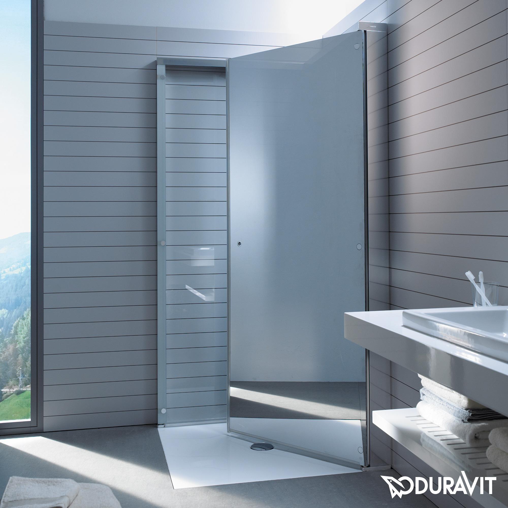 duravit openspace duschabtrennung klarglas und spiegelglas chrom. Black Bedroom Furniture Sets. Home Design Ideas