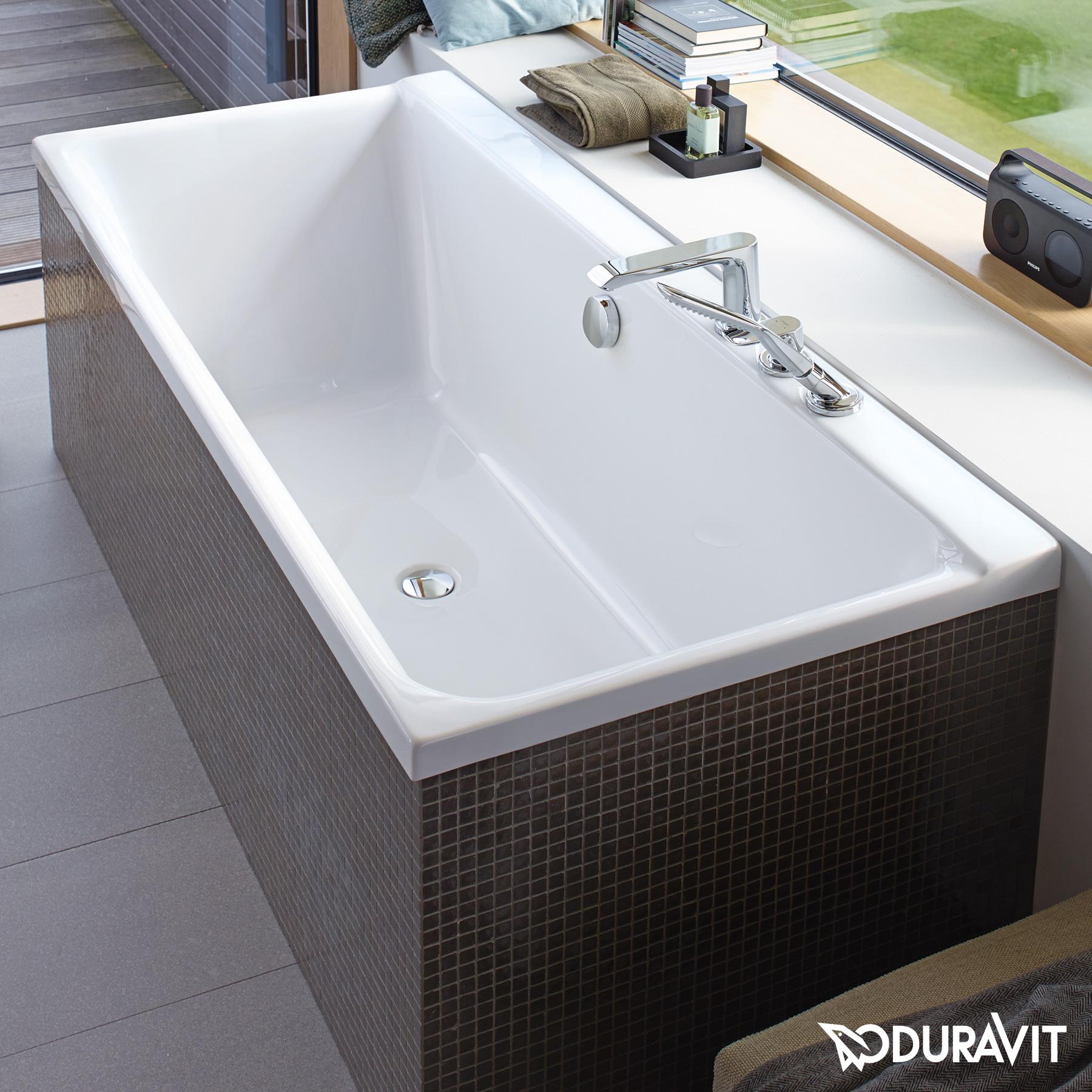 duravit p3 comforts rechteck badewanne r ckenschr ge. Black Bedroom Furniture Sets. Home Design Ideas