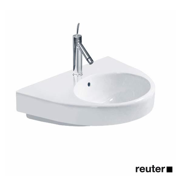 duravit starck 2 waschtisch wei mit 1 hahnloch 2323650000 reuter onlineshop. Black Bedroom Furniture Sets. Home Design Ideas