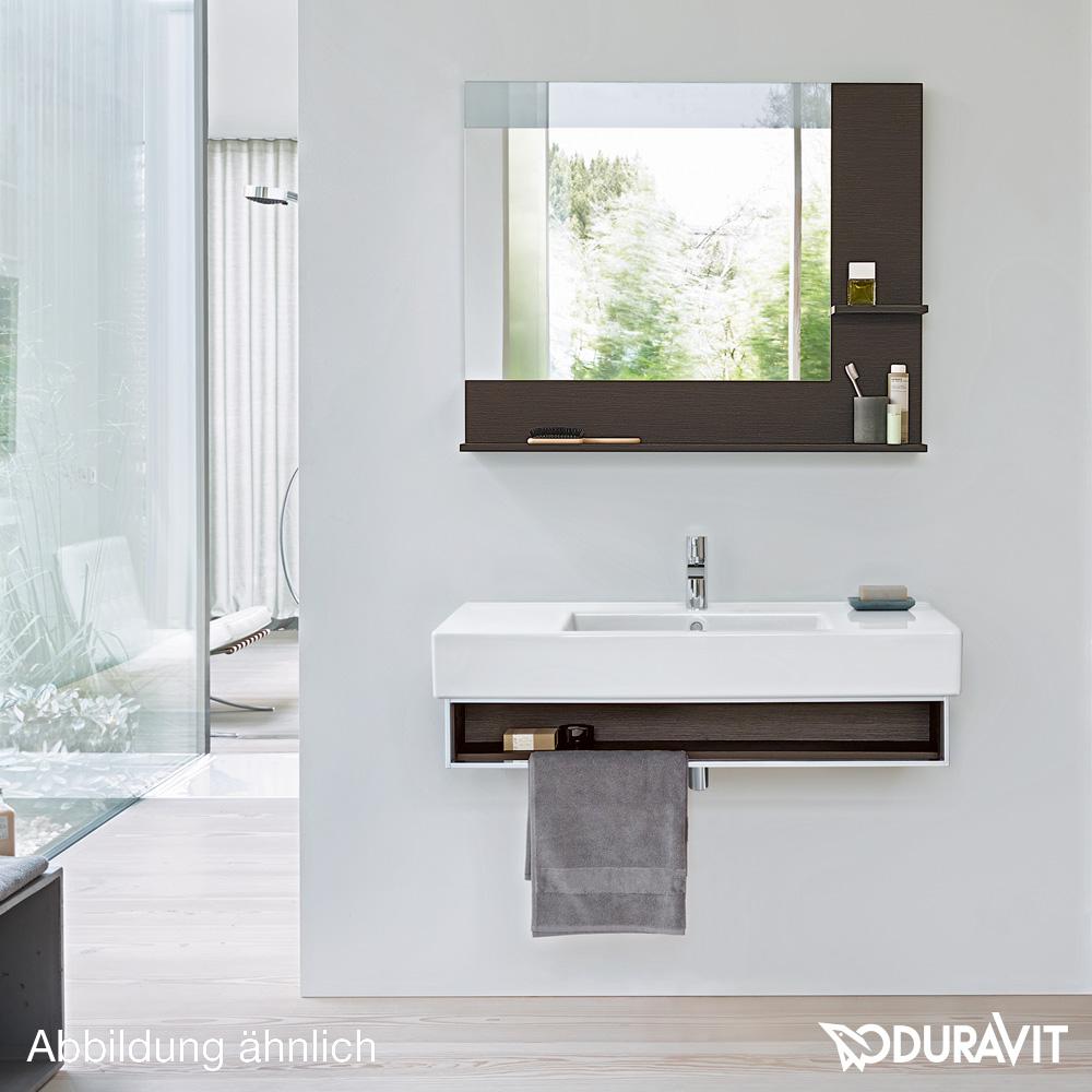 duravit vero spiegel mit led beleuchtung ablagefl chen unten rechts kastanie dunkel dimmbar. Black Bedroom Furniture Sets. Home Design Ideas