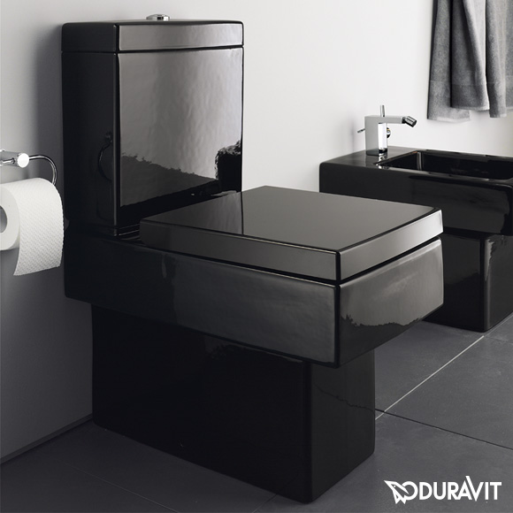 duravit vero stand tiefsp l wc l 63 b 37 cm f r kombination schwarz mit wondergliss. Black Bedroom Furniture Sets. Home Design Ideas