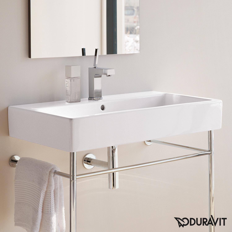 duravit vero waschtisch wei mit 1 hahnloch und berlauf. Black Bedroom Furniture Sets. Home Design Ideas