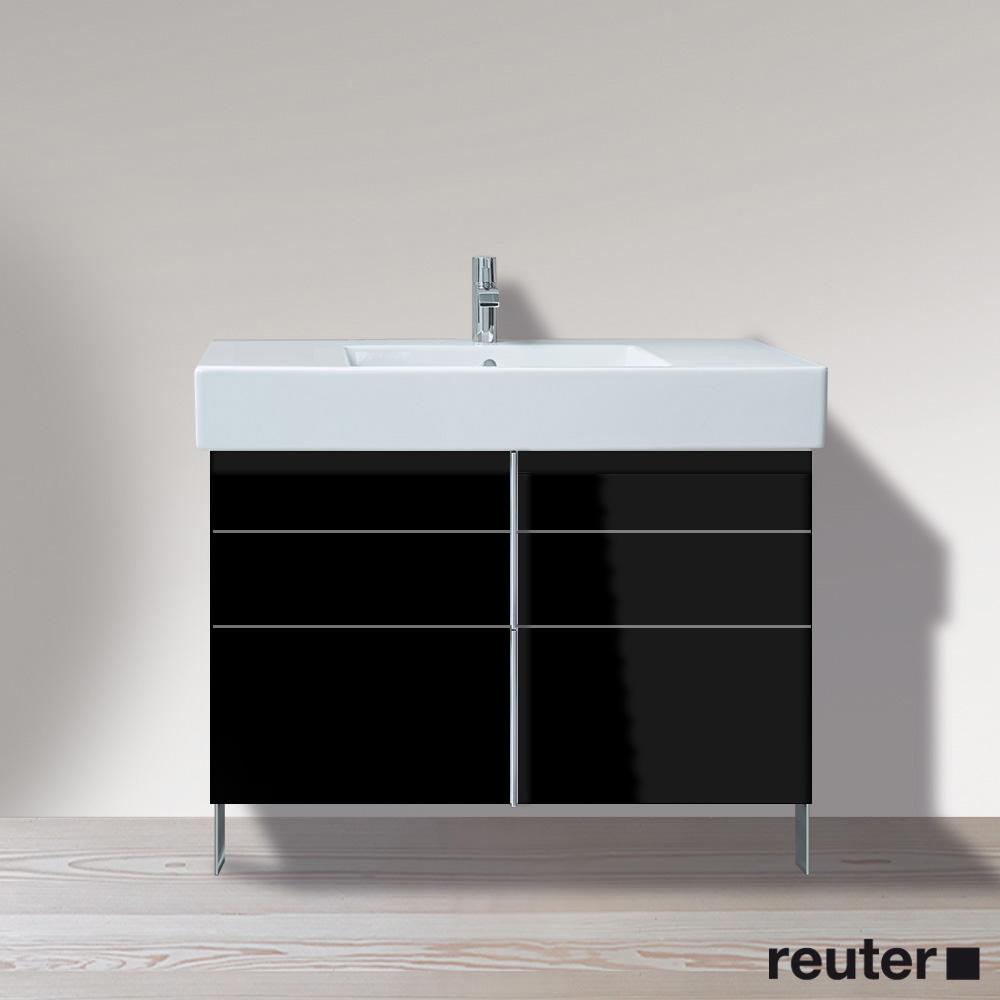 duravit vero waschtischunterbau stehend schwarz hochglanz ve641404040 reuter onlineshop. Black Bedroom Furniture Sets. Home Design Ideas