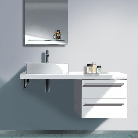 duravit x large unterschrank f r konsole weiss hochglanz dekor xl672302222 reuter onlineshop. Black Bedroom Furniture Sets. Home Design Ideas