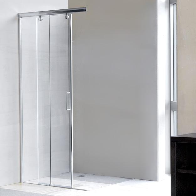 duscholux bella vita 3 schiebet r mit festteil links 2 teillig b 80 h 200 cm platinum silber. Black Bedroom Furniture Sets. Home Design Ideas