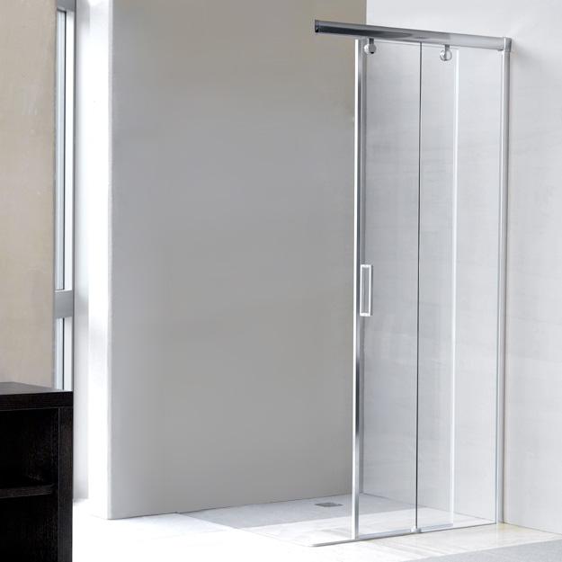 duscholux bella vita 3 schiebet r mit festteil rechts 2 teillig b 80 h 200 cm silber matt. Black Bedroom Furniture Sets. Home Design Ideas