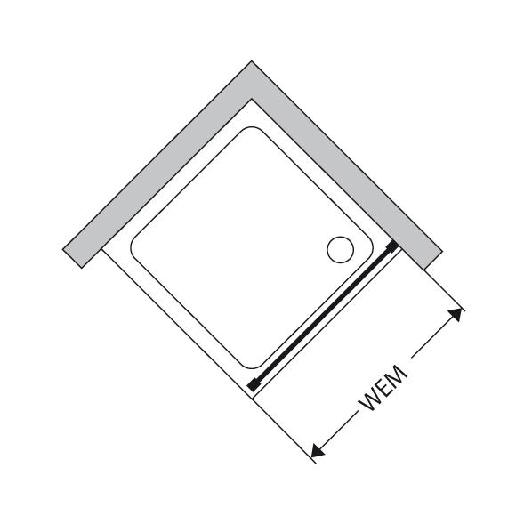 duscholux bella vita nova seitenteil silber esg 339209022551070 reuter onlineshop. Black Bedroom Furniture Sets. Home Design Ideas