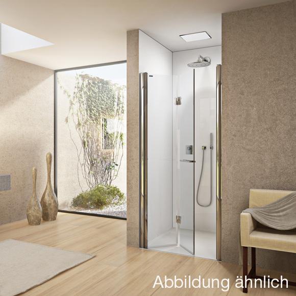 duscholux bella vita nova drehfaltt r in nische platinum silber esg mit cleartec. Black Bedroom Furniture Sets. Home Design Ideas