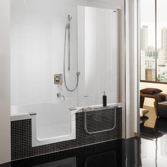 duscholux piccolo step in badewanne mit entnehmbarem. Black Bedroom Furniture Sets. Home Design Ideas