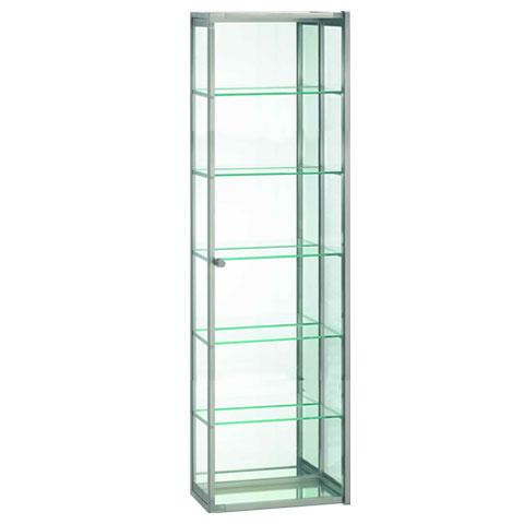 Decor walther s 4 glasschrank glas klar chrom 0602500 for Glasschr nke